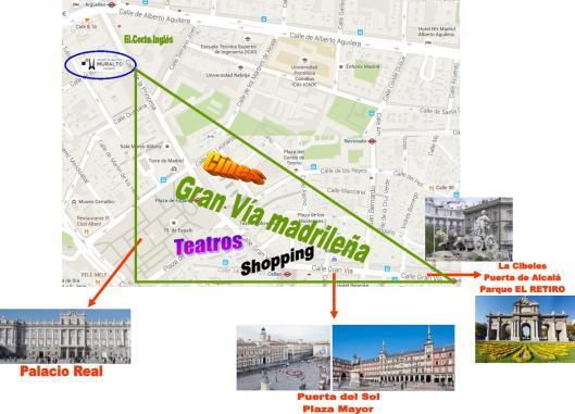 Plano Muralto_GRAN VÍA y monumentos cercanos